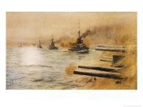 The Phantom Ship-William Lionel Wyllie-Mounted Premium Giclee Print
