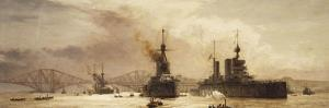 The First Battle Squadron leaving the Forth for the Battle of Jutland by William Lionel Wyllie