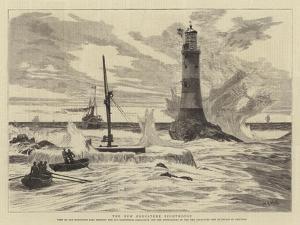 The New Eddystone Lighthouse by William Lionel Wyllie