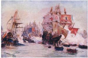 The Spanish Armada 1588, 1915 by William Lionel Wyllie