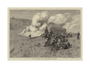 The Zulu War, Burning Grass by William Lionel Wyllie