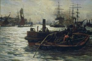 Toil, Glitter, Grime and Wealth on a Flowing Tide by William Lionel Wyllie