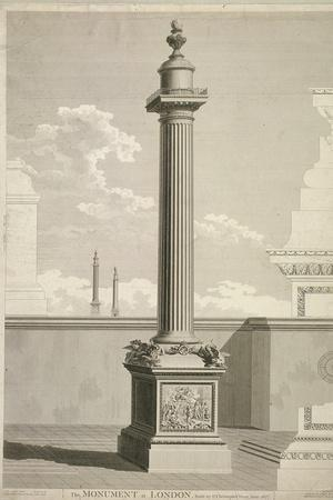 View of the Monument, City of London, 1791