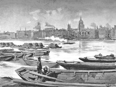 'St. Paul's Cathedral from the South Bank of the River', 1891
