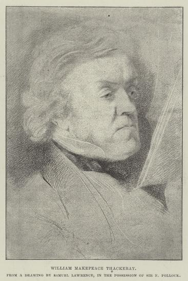 William Makepeace Thackeray-Samuel Lawrence-Giclee Print