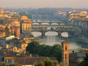 Florence and the Arno River by William Manning
