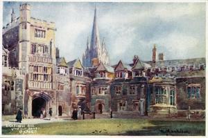 Brasenose College, Old Quad by William Matthison