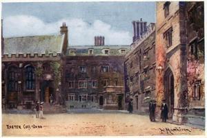 Exeter College, Quad by William Matthison