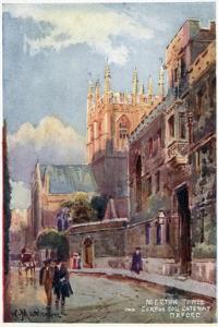 Merton College Tower, Corpus Christi Gateway by William Matthison