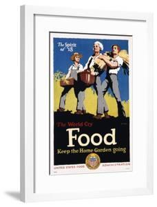 Food - Keep the Home Garden Going Poster by William McKee
