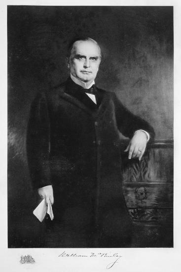 William McKinley, 25th President of the United States, 19th century-Unknown-Giclee Print