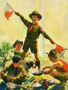 """""""Boy Scouts,""""September 1, 1930 by William Meade Prince"""