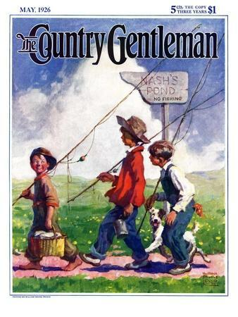 """Going Fishing,"" Country Gentleman Cover, May 1, 1926"