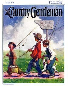 """Going Fishing,"" Country Gentleman Cover, May 1, 1926 by William Meade Prince"
