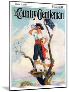 """""""Playing Pirate,"""" Country Gentleman Cover, March 1, 1929 by William Meade Prince"""