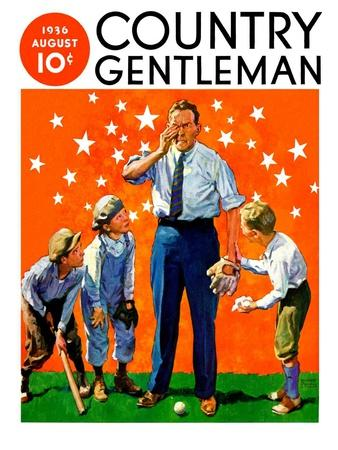 """""""Seeing Stars,"""" Country Gentleman Cover, August 1, 1936"""