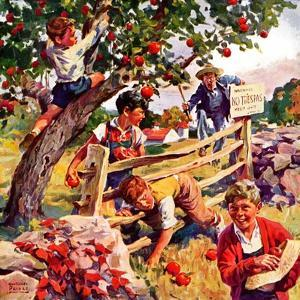 """""""Stealing Apples,""""October 1, 1937 by William Meade Prince"""