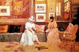 A Friendly Call, 1895 by William Merritt Chase