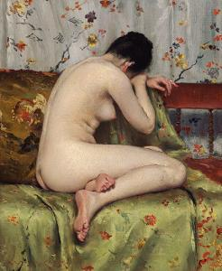 A Modern Magdalen, about c.1888 by William Merritt Chase