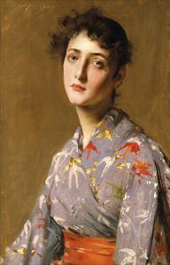 Girl in a Japanese Costume, c.1890 by William Merritt Chase