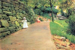 In the Park - a Byway by William Merritt Chase