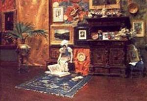 In the Studio by William Merritt Chase