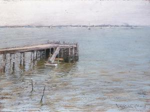 Long Island Pier by William Merritt Chase