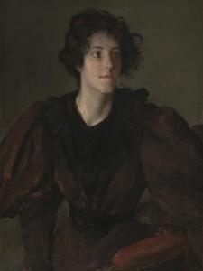 Study of a Young Woman, C.1880-85 by William Merritt Chase