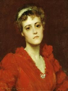 The Red Gown by William Merritt Chase