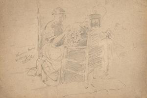 Venetian Lace Making, 1877-8 by William Merritt Chase