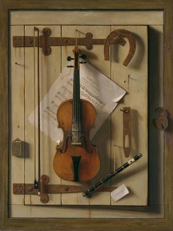 Still Life, Violin and Music, 1888