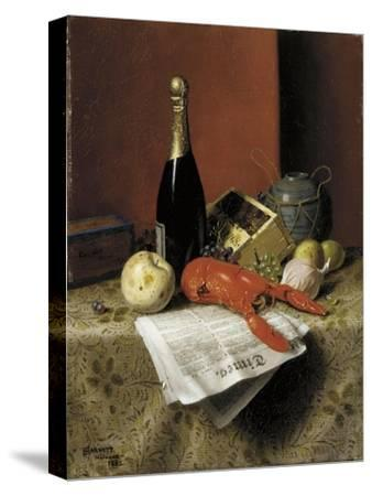 Still Life with Lobster, Fruit, Champagne and Newspaper, 1882
