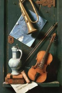 Still Life with Musical Instruments by William Michael Harnett