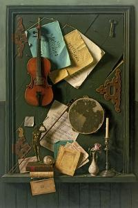 The Old Cupboard Door, 1889 by William Michael Harnett