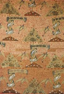 A Rare Early Embroidery Design with the Inscription He Who Loves Well Forgets Slowly by William Morris