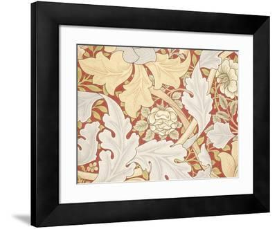 Acanthus Leaves, Wild Rose on Crimson Background, William, Morris