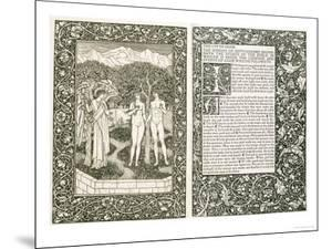 "Adam and Eve, from ""The Works of Chaucer,"" Published by Kelmscott Press, 1896 by William Morris"
