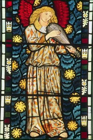 Angel with a Rebec, 1869 by William Morris