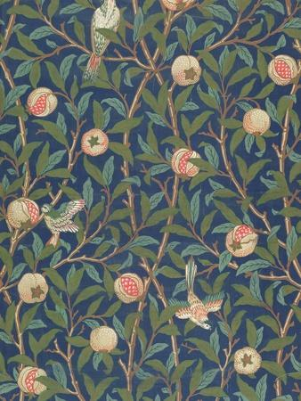 'Bird and Pomegranate' Wallpaper Design, printed by John Henry Dearle