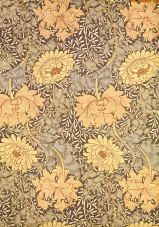 """Chrysanthemum"" Wallpaper Design, 1876 by William Morris"