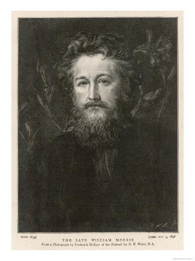 William Morris English Writer Artist and Socialist--Giclee Print