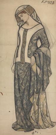 Figure of Guinevere by William Morris