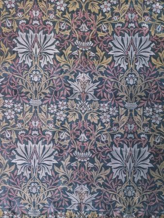 Flower Garden Furnishing Fabric, Jacquard Woven Silk, England, 1879