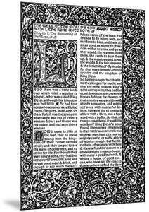 Front Page of Chapter I, Taken from the Well at World's End by William Morris, 1896 by William Morris