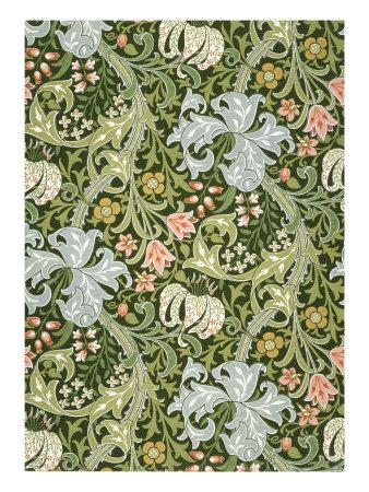 Golden Lily Wallpaper, Paper, England, Late 19th Century
