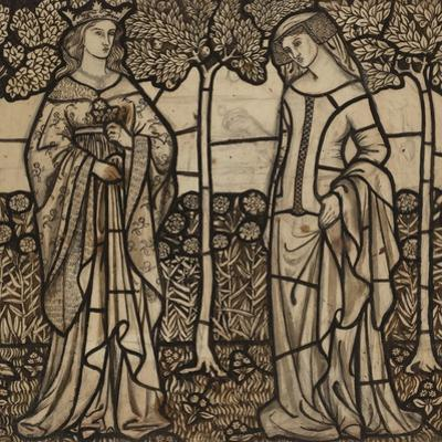 Guinevere and Iseult: Cartoon for Stained Glass by William Morris
