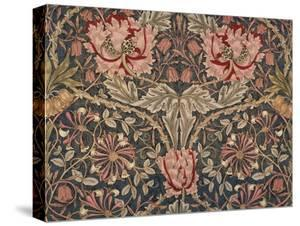 Honeysuckle Furnishing Fabric, Printed Linen, England, 1876 by William Morris