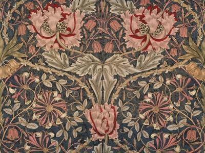 Honeysuckle Furnishing Fabric, Printed Linen, England, 1876 by William Morris