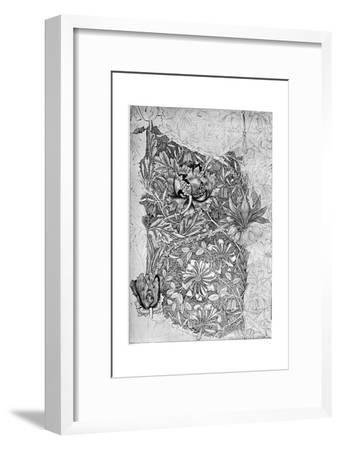 Honeysuckle Pattern Printed on Linen, 1883