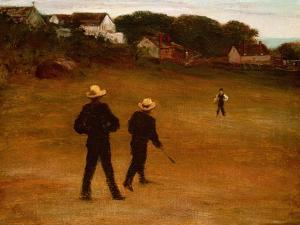 The Ball Players, 1871 by William Morris Hunt